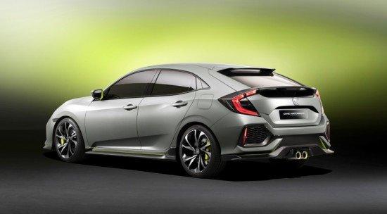 Honda Civic, вид сзади