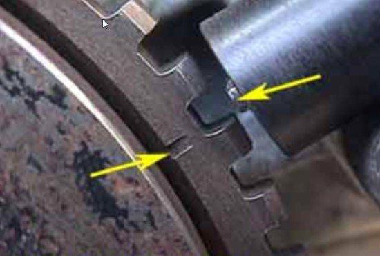 Шкив коленвала совмещён с меткой