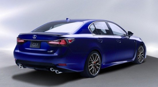 Lexus GS F, вид сзади
