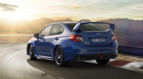 Subaru WRX STI, вид сзади