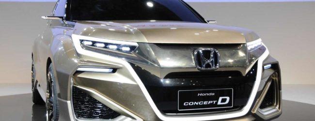 Honda Concept D цвета металлик, вид спереди