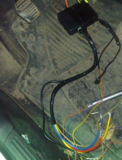 Изолированные провода при подключении кнопки старт-стоп