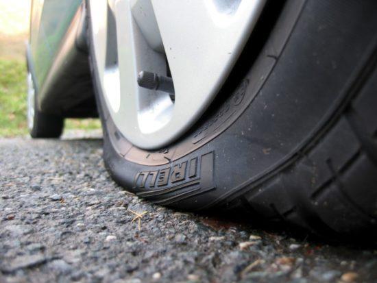 пониженное давление в шинах