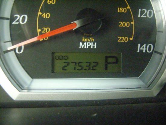 Пробег автомобиля на электронном табло