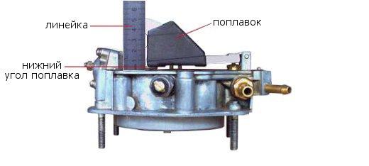 настройка поплавков карбюратор солекс 21073