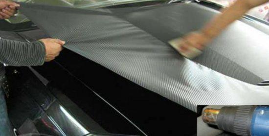 Натягивание горячей карбоновой плёнки