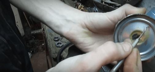 Отверстие в задней части термоса