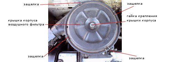 Сборка и разбор карбюратора: снятие крышки воздушного фильтра
