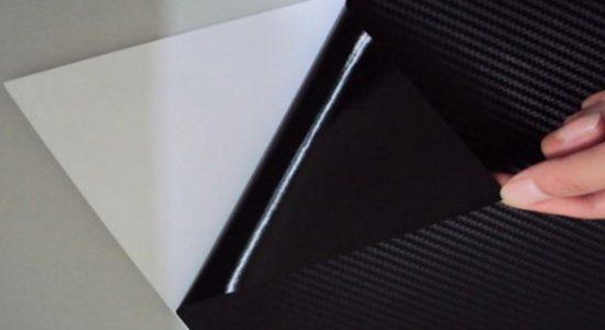 Удаление подложки с карбоновой плёнки