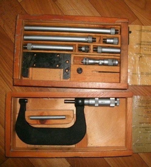 Нутромер и микрометр
