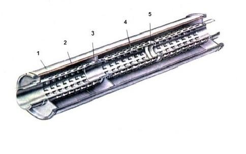 Резонатор в разрезе