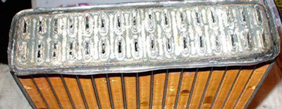 Засорившийся радиатор «Рено Логан»