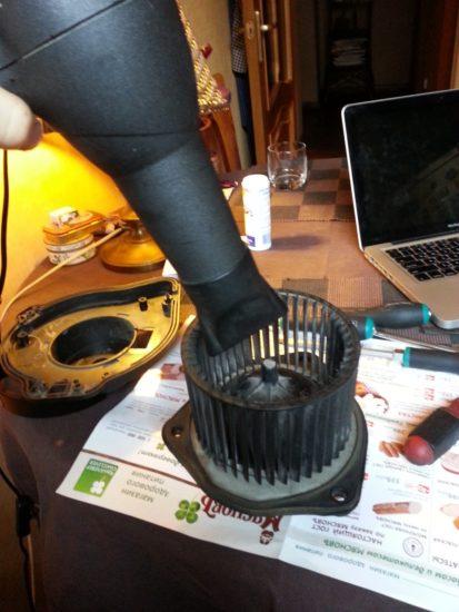 Чистка вентилятора печки