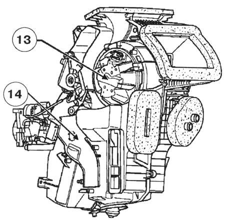 Схема вентилятора печки «Рено Логан»