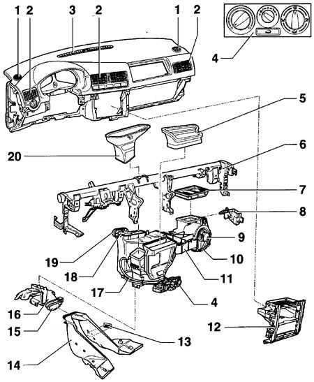 Схема системы отопления салона Volkswagen Golf
