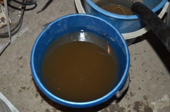 Жидкость после промывки