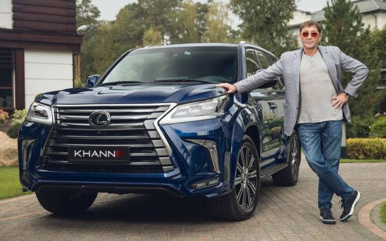 Григорий Лепс со своей машиной Lexus LX 570