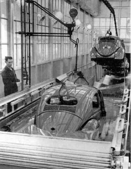 Производство первого автомобиля Фольксваген