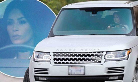 Ким Кардашьян за рулём Range Rover