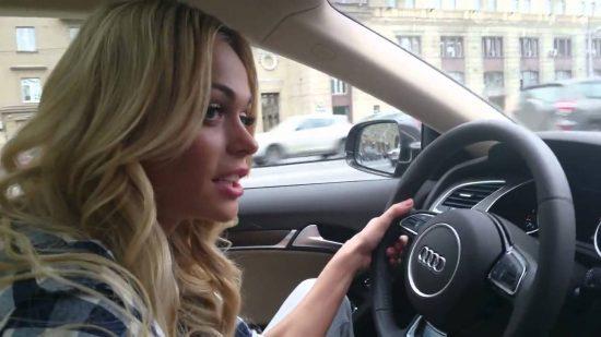Анна Хилькевич за рулём Audi