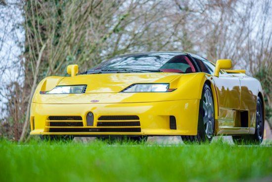 Bugatti EB 110 жёлтый