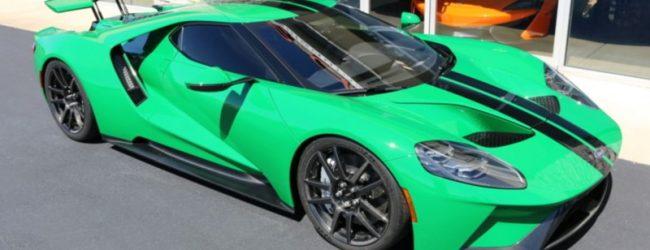 Ford GT 2017 зелёный