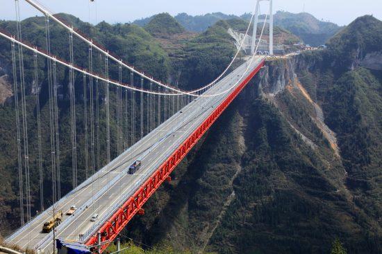Мост через горный массив