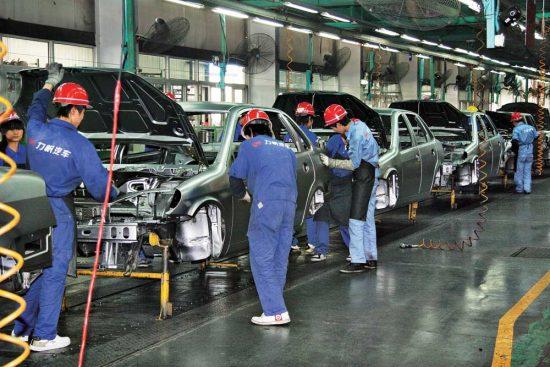 Конвейер по производству авто